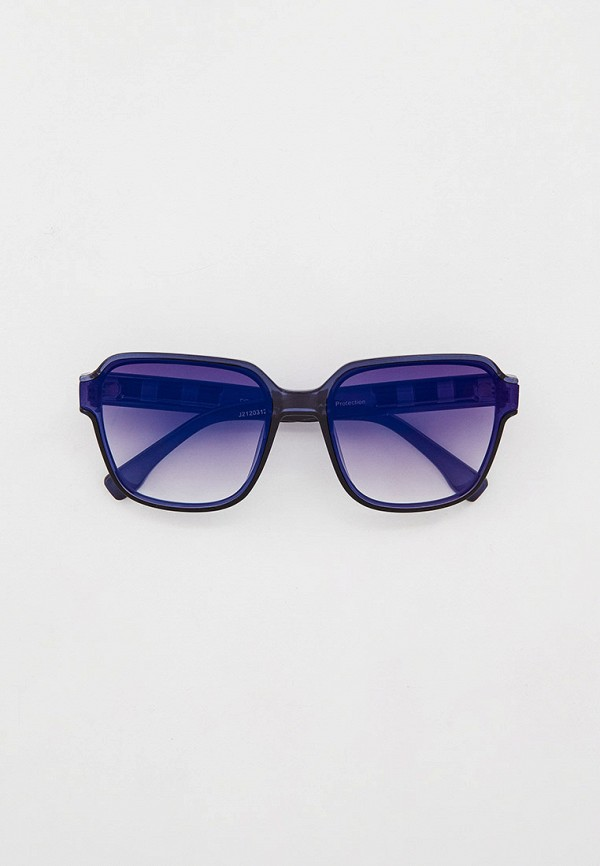 женские квадратные солнцезащитные очки fabretti, синие