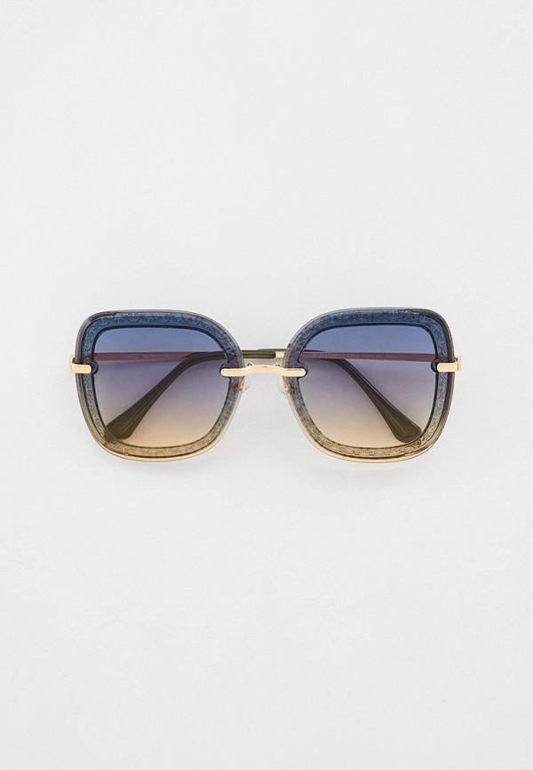 женские квадратные солнцезащитные очки fabretti, разноцветные
