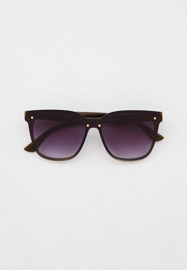 женские квадратные солнцезащитные очки fabretti, хаки