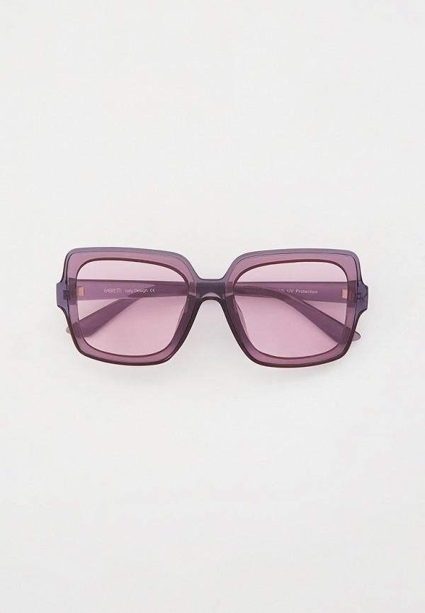 женские квадратные солнцезащитные очки fabretti, фиолетовые