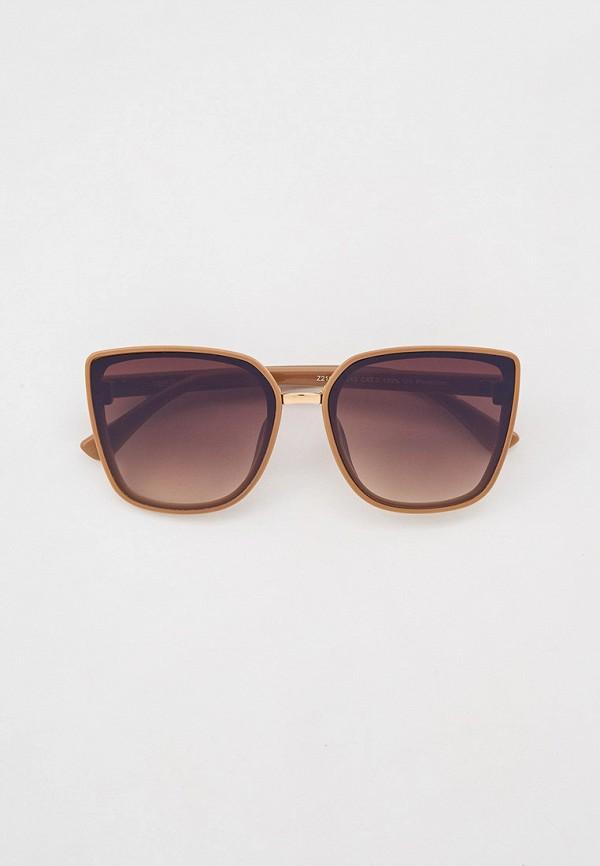 женские солнцезащитные очки кошачьи глаза fabretti, бежевые