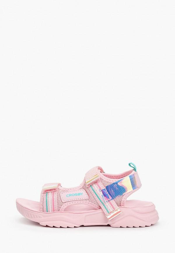 сандалии crosby для девочки, розовые