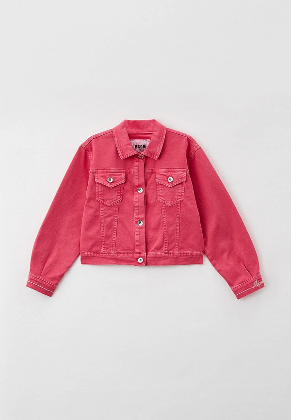 Куртка джинсовая MSGM Kids розового цвета