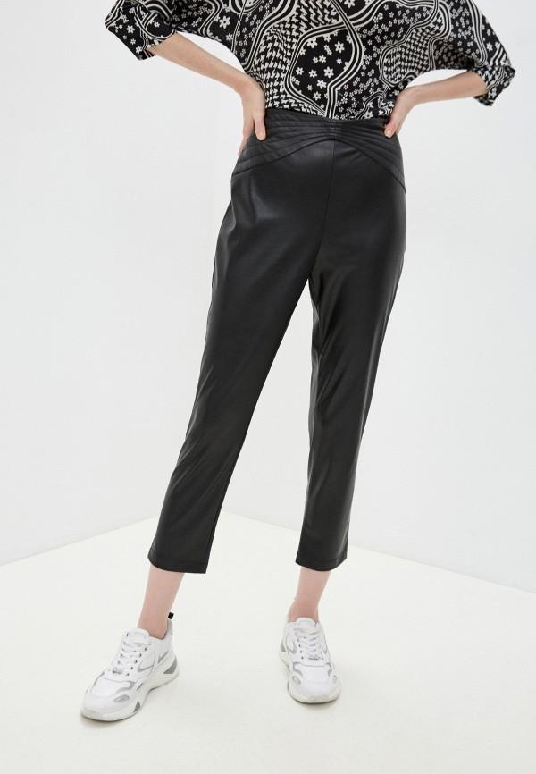 женские кожаные брюки liu jo, черные
