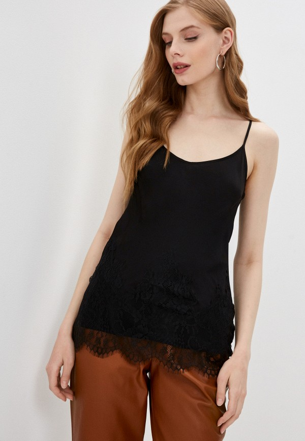 женский топ в бельевом стиле liu jo, черный