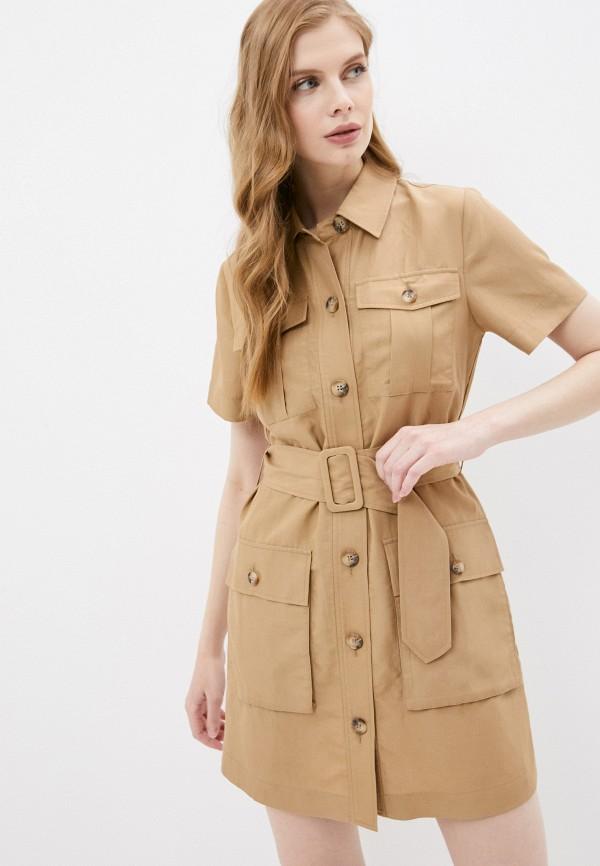 женское платье-рубашки liu jo, бежевое