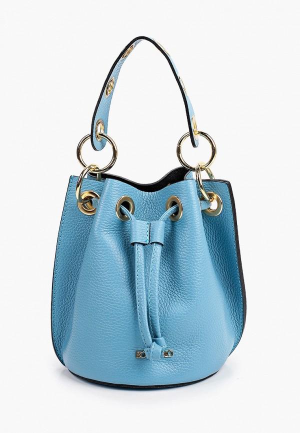 женская сумка-ведро bosccolo, голубая