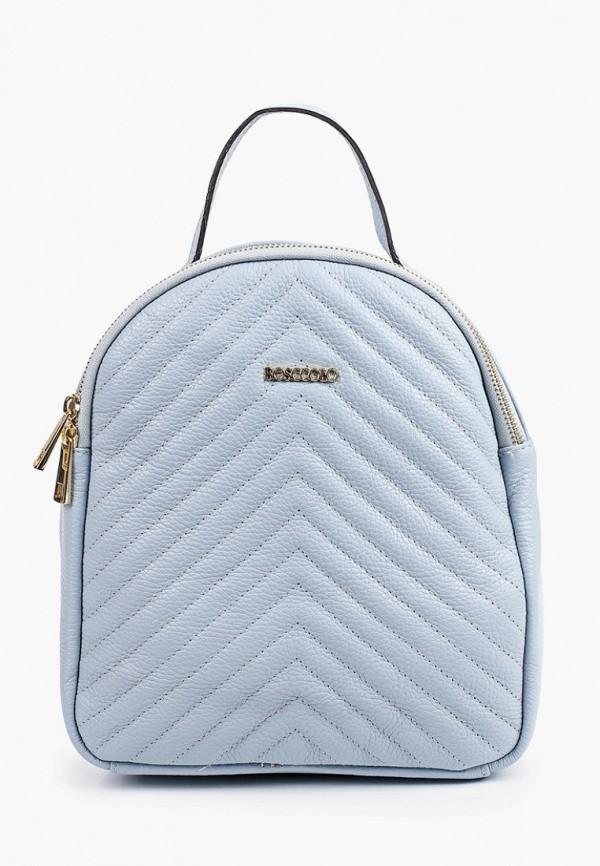 женский рюкзак bosccolo, голубой