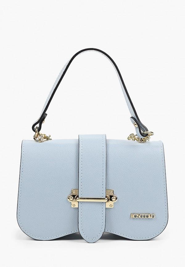 женская сумка через плечо bosccolo, голубая
