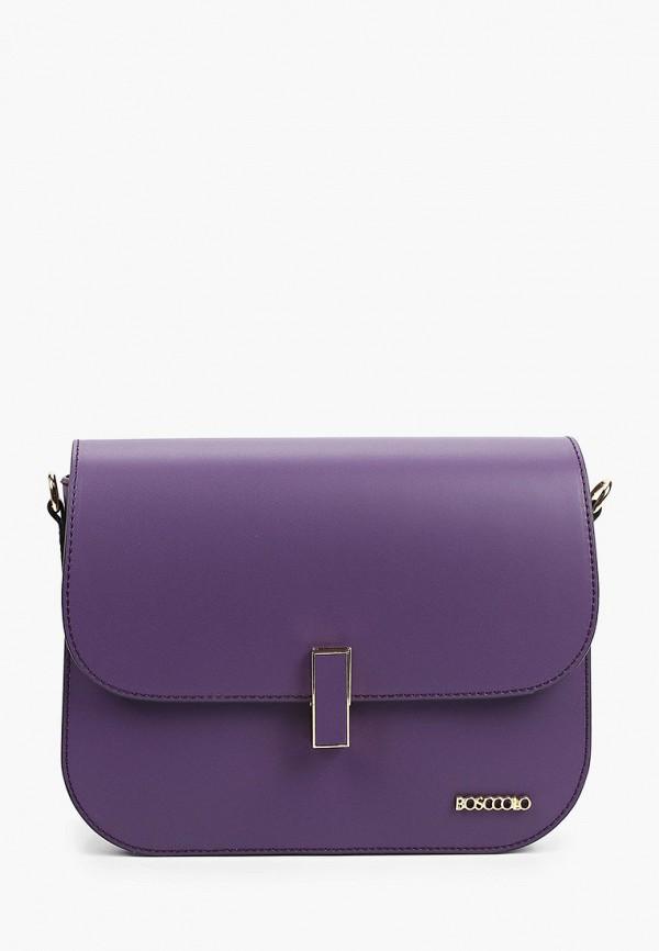 женская сумка bosccolo, фиолетовая