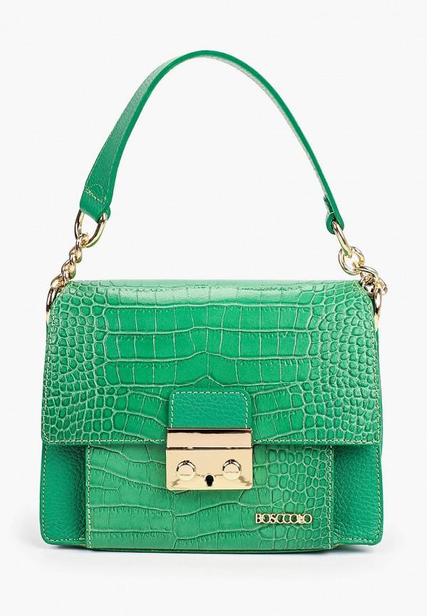 женская сумка через плечо bosccolo, зеленая