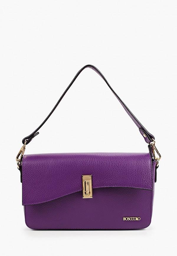 женская сумка через плечо bosccolo, фиолетовая