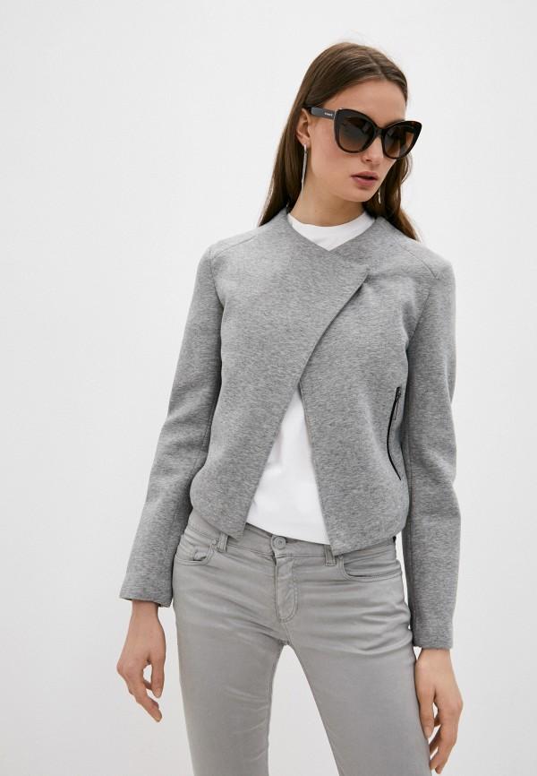 женский жакет armani jeans, серый