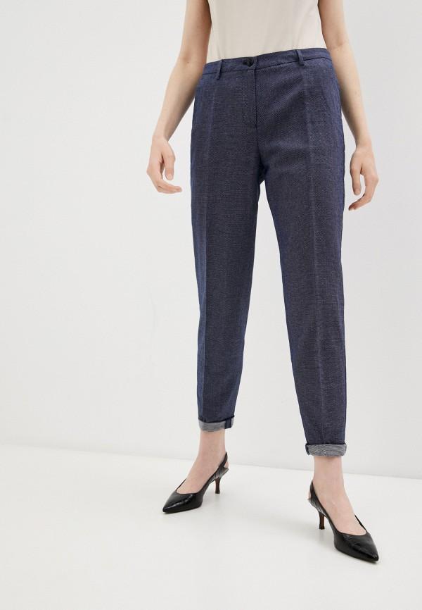 женские повседневные брюки armani jeans, синие