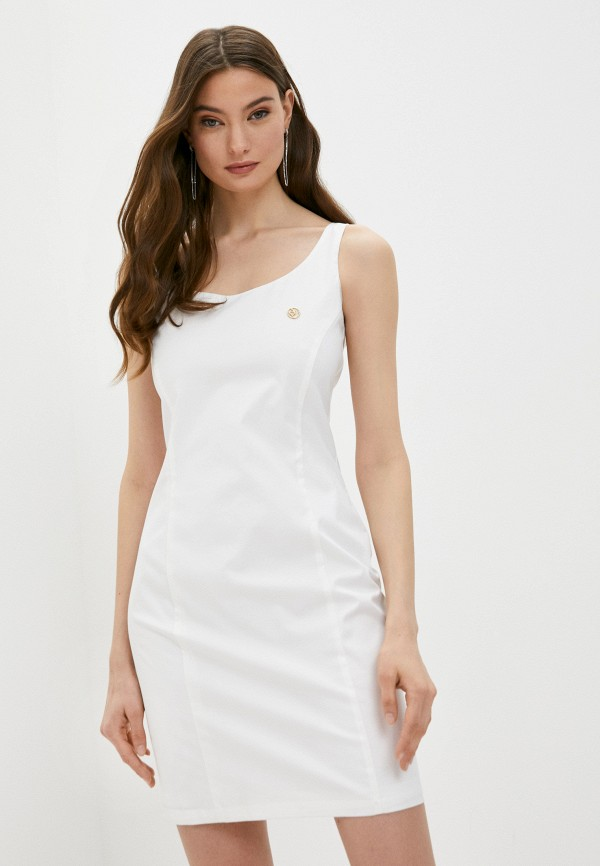 женское платье-футляр armani jeans, белое