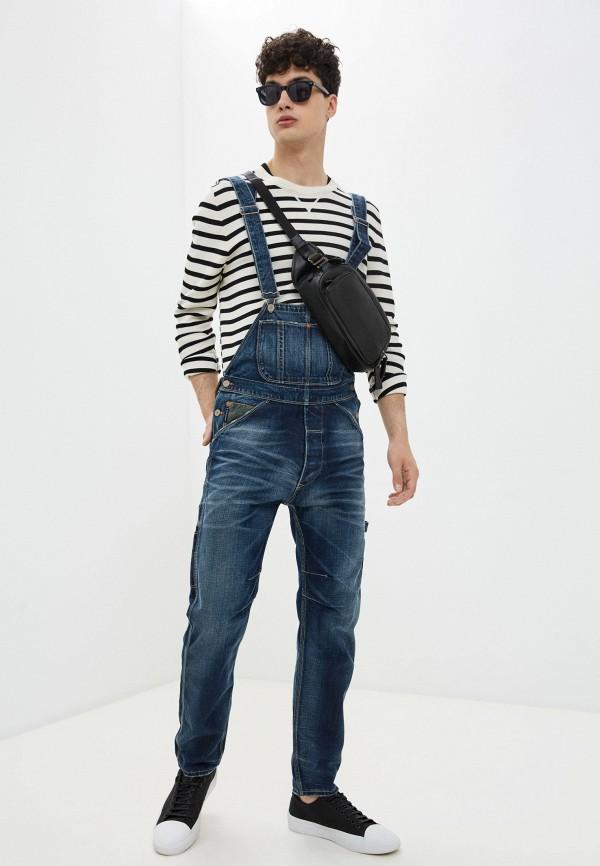 мужской джинсовые комбинезон armani jeans, синий