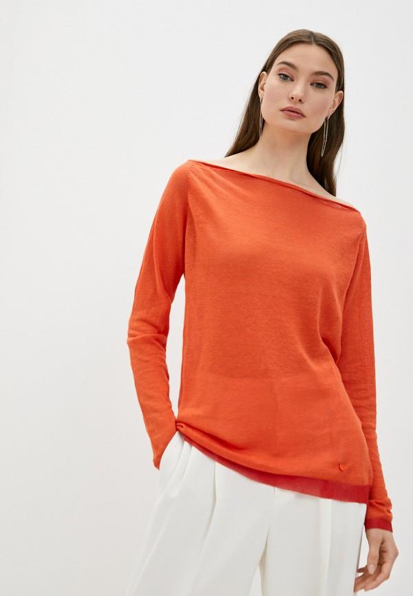 женский джемпер armani jeans, оранжевый
