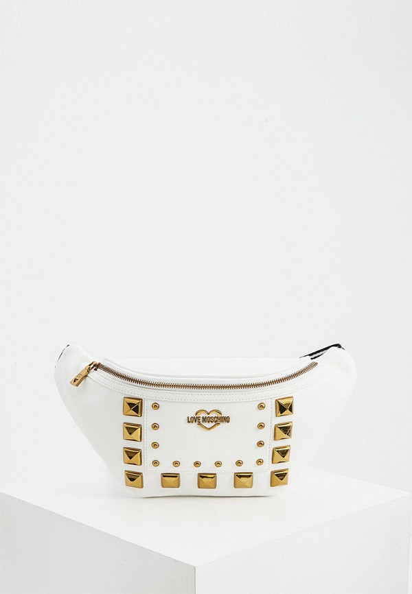 женская поясные сумка love moschino, белая