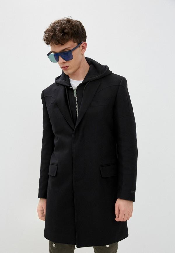 мужское пальто les hommes urban, черное