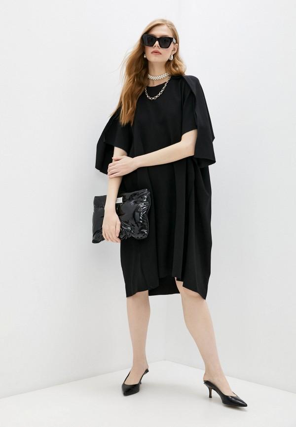 женское повседневные платье maison margiela, черное