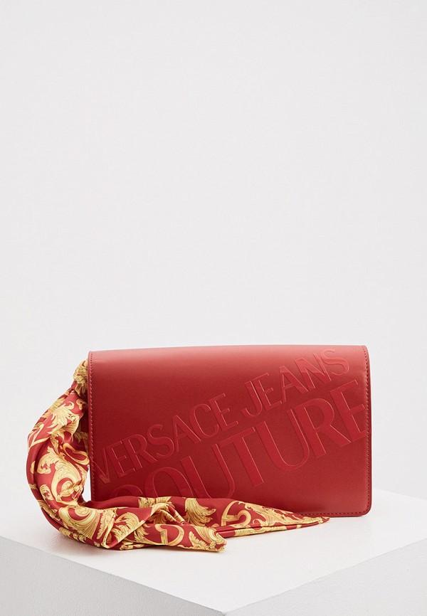 женская сумка с ручками versace, красная