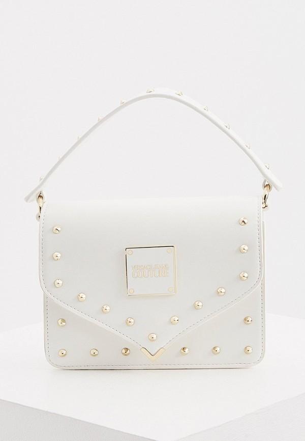 женская сумка с ручками versace, белая
