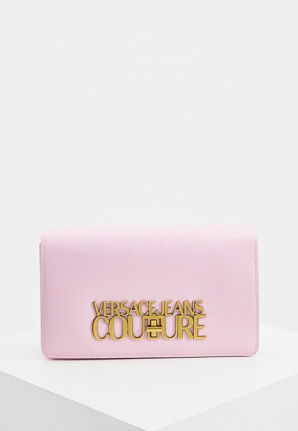 женская сумка с ручками versace, розовая
