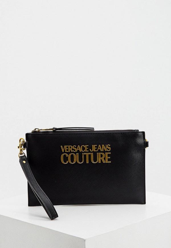 женский клатч versace, черный