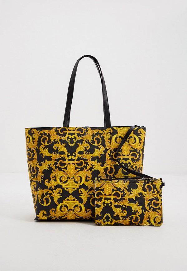 женский кошелёк-шоперы versace, черный