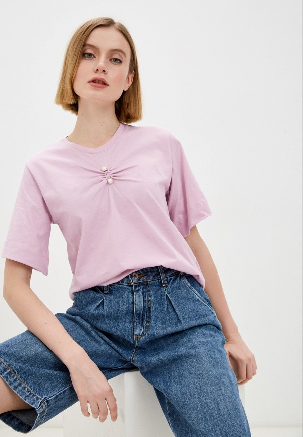 женская футболка rinascimento, фиолетовая