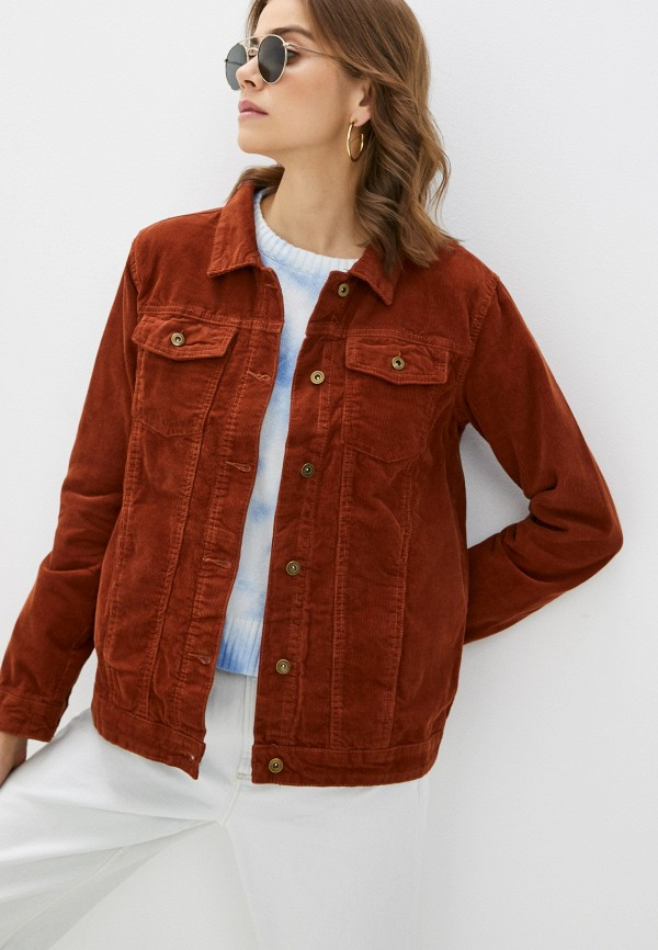 женская куртка brave soul, коричневая