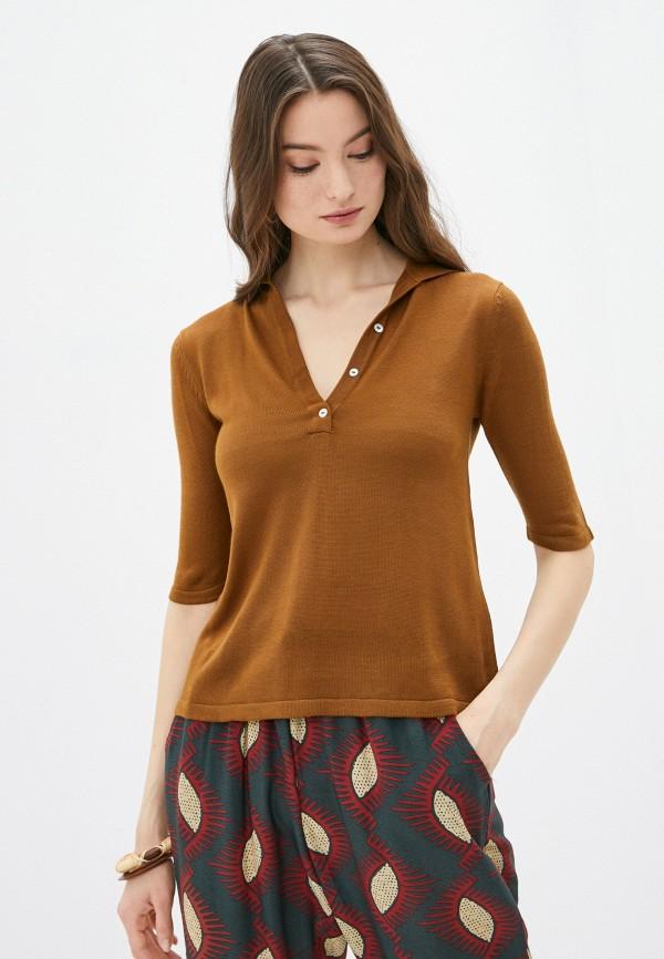женский пуловер code, коричневый