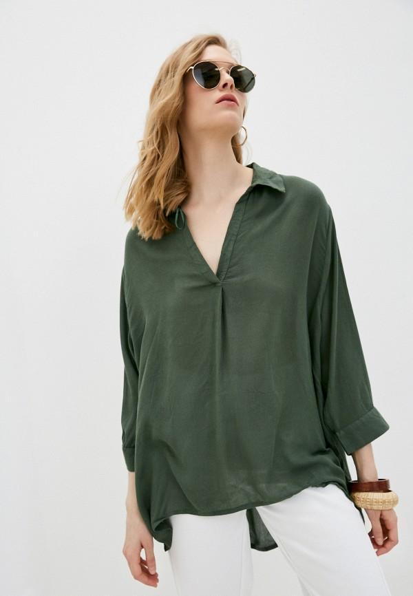 женская туника code, зеленая