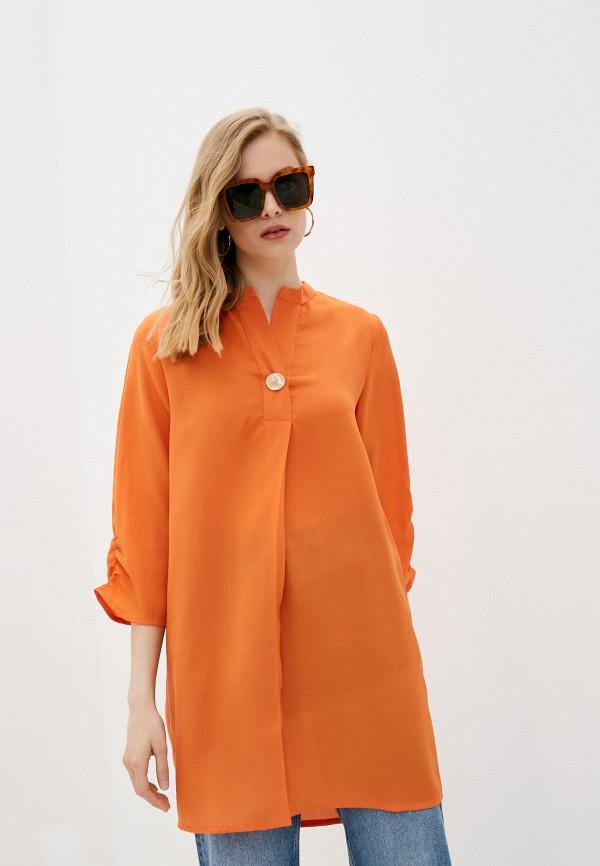 женская туника code, оранжевая