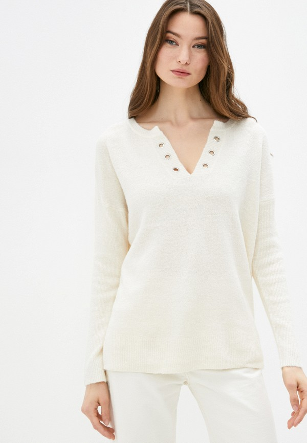женский пуловер code, бежевый