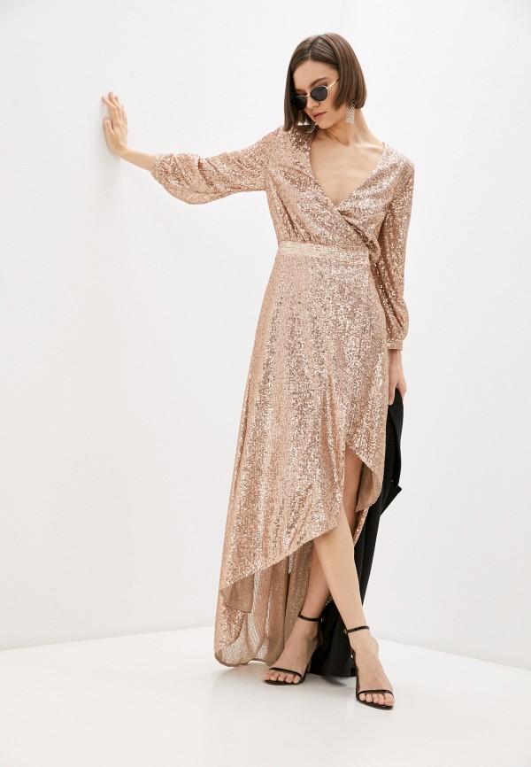 женское вечерние платье just cavalli, золотое