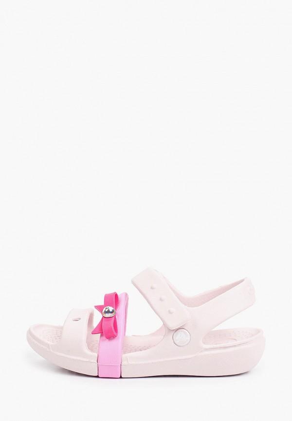сандалии crocs малыши, розовые