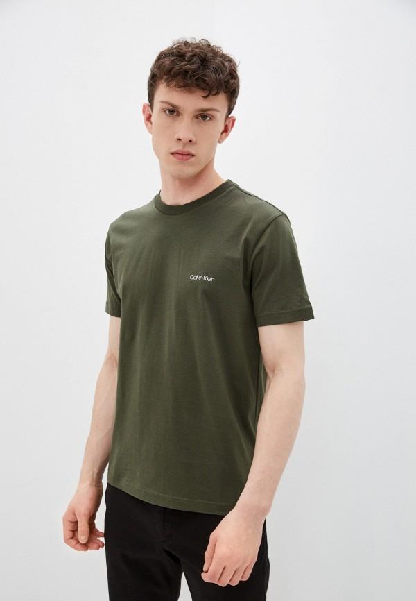 мужская футболка с коротким рукавом calvin klein, хаки