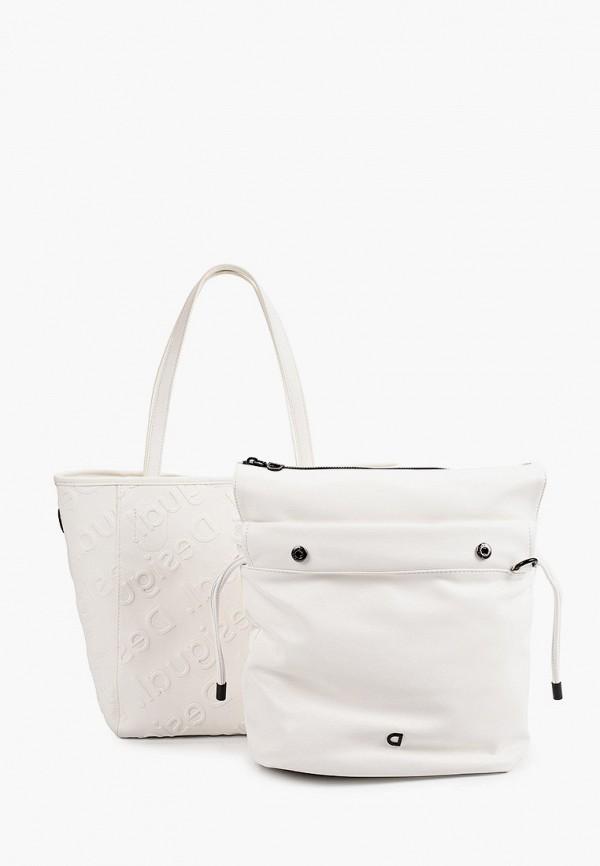 женская сумка desigual, белая
