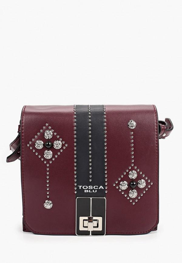 женская сумка через плечо tosca blu, бордовая