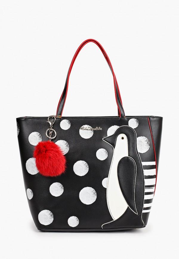 женская сумка-шоперы tosca blu, черная