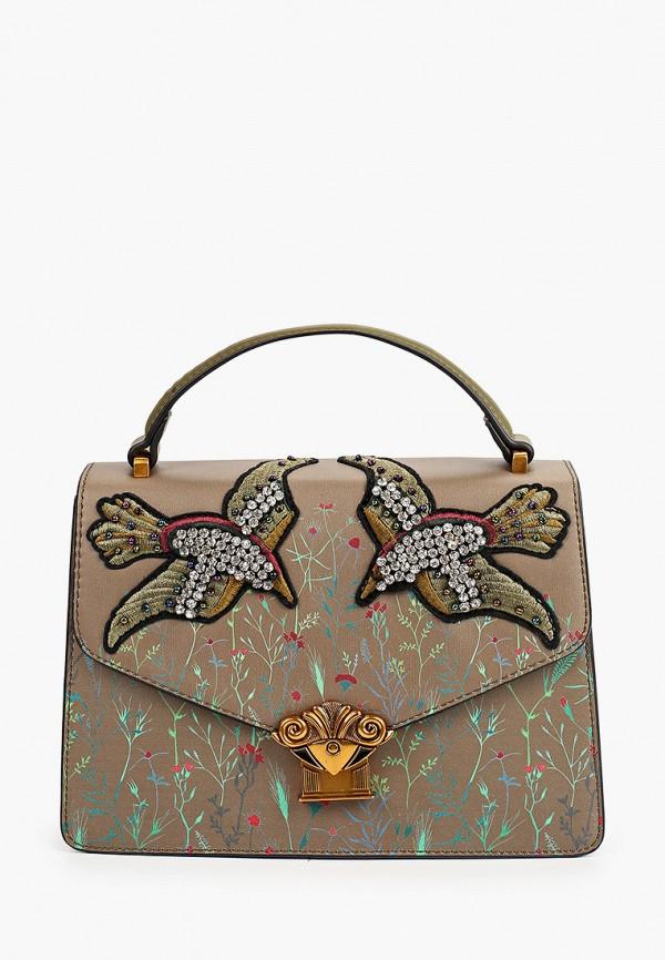 женская сумка с ручками tosca blu, хаки