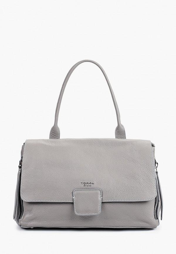 женская сумка с ручками tosca blu, серая