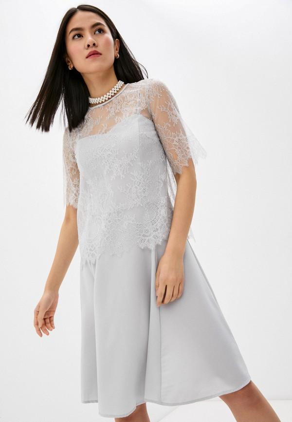 женское вечерние платье twinset milano, серое