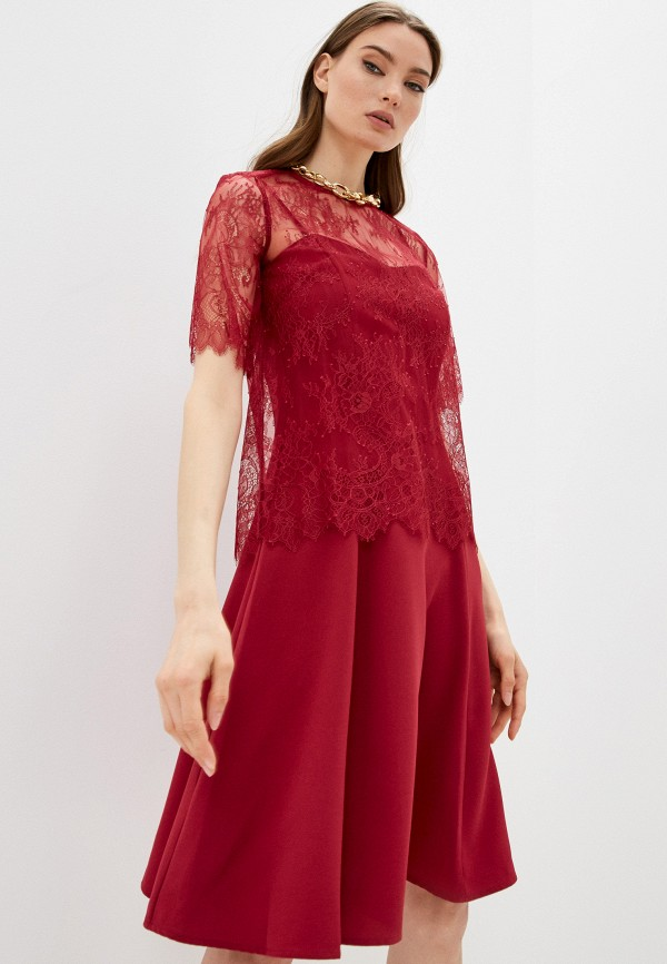 женская вечерние блузка twinset milano, бордовая