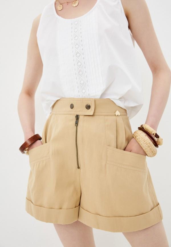 женские повседневные шорты twinset milano, бежевые