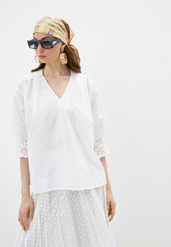 женская блузка с длинным рукавом seventy, белая