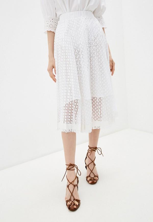 женская юбка-трапеции seventy, белая