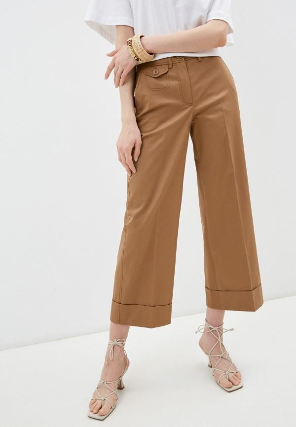 женские повседневные брюки seventy, коричневые