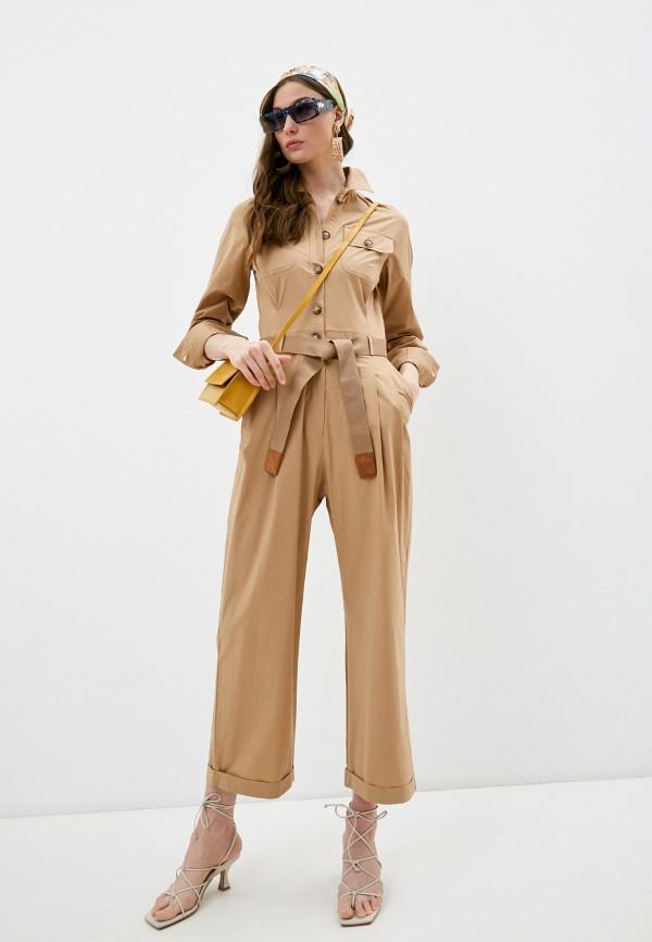 женский комбинезон с брюками seventy, бежевый